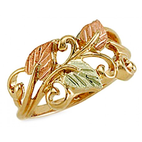 10K Black Hills Gold Ring for Ladies
