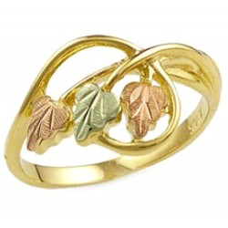 Landstrom's® Ladies Black Hills Gold Ring with Leaves