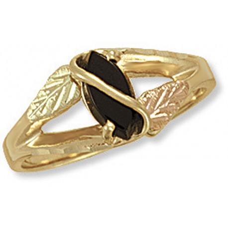 BLACK HILLS GOLD ONYX RING for LADIES