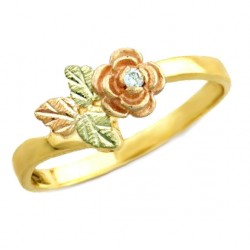 Landstrom's® Black Hills Gold Rose Ring With Diamond