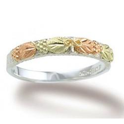 Landstrom's® 12K Black Hills Gold on Sterling Silver Ladies Ring