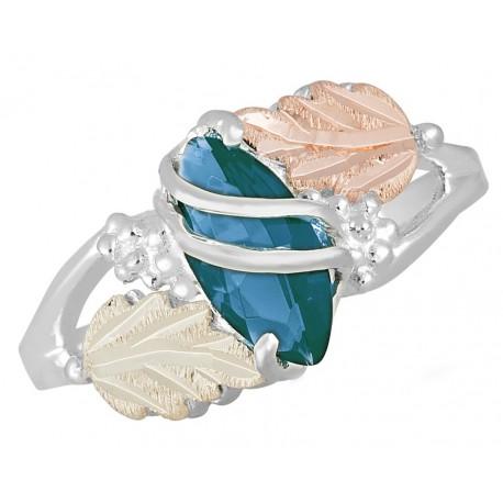 Landstrom's® 12k Gold on Sterling Silver Blue Zircon December Birthstone Ring