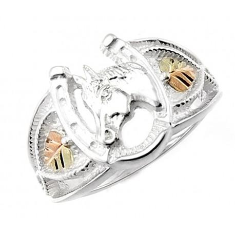 Black Hills Gold Sterling Silver Horseshoe Ring