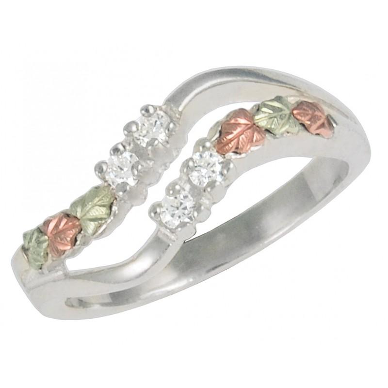 0e95ef44e8051 Coleman Black Hills Gold Ladies White CZ Ring in Sterling Silver -  BlackHillsGold.Direct - Klugex