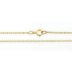 1/20 12K Gold Filled Rope Chain 18-inch Long