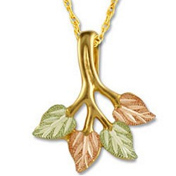 Landstrom's® Traditional 10K Tri-color Black Hills Gold Leaves Pendant