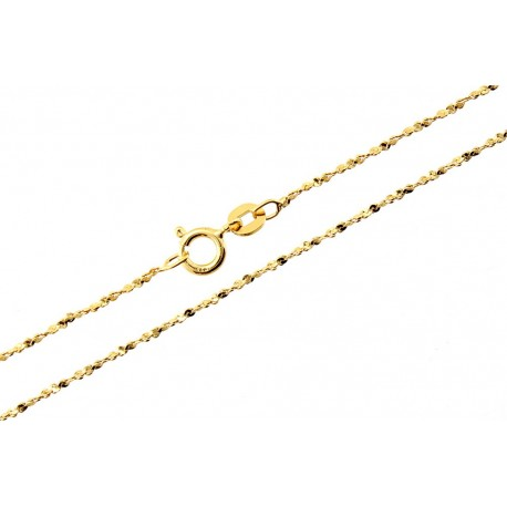 Sterling Silver Vermeil Rope Chain 16-inch Long