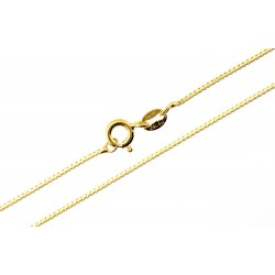 Sterling Silver Vermeil Box Chain 18-inch Long