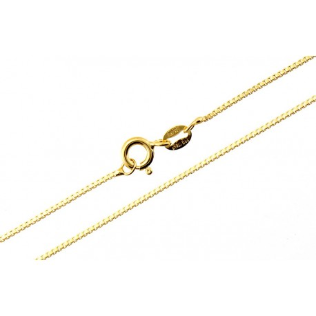 Sterling Silver Vermeil Box Chain 24-inch Long