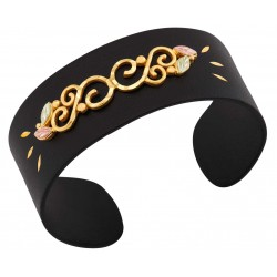 Landstrom's® Black Hills Gold on Black Powder Coated Cuff Bracelet
