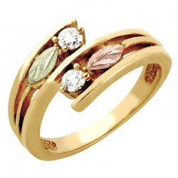 Black Hills Gold Tri-color Bypass Diamond Ring By Landstrom's®
