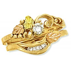 Landstrom's® 14K Black Hills Gold .16TW Diamond Wedding Set