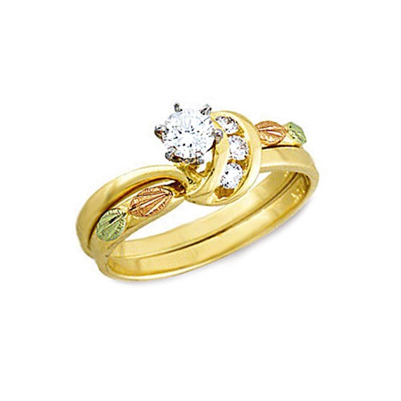 Landstrom S 174 14k Black Hills Gold 34tw Diamond Wedding