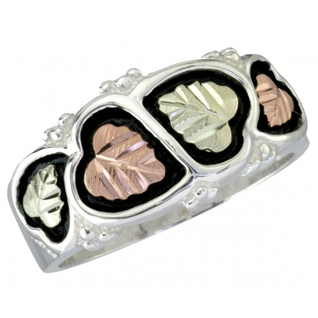 Black Hills Sterling Silver Men's Wedding Ring