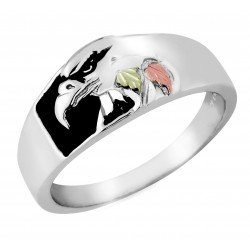 Black Hills Gold Sterling on Silver Men's Eagle Ring