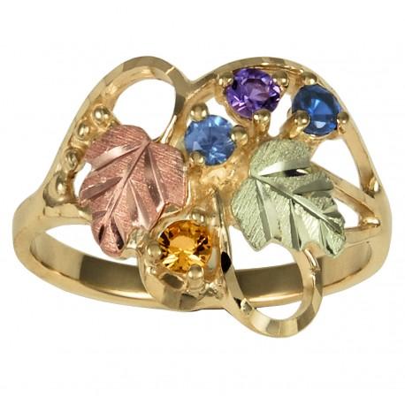 Black Hills Gold Family Birthstone Ring