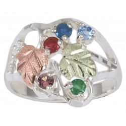 Coleman Black Hills Gold Family Birthstone Ring 1-7 Stones