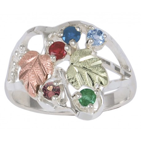 Coleman Black Hills Gold Family Birthstone Ring 1-7 Stones