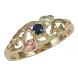 Coleman Black Hills Gold Family Birthstone Ring 1-5 Stones