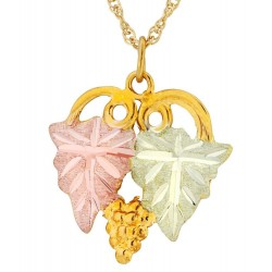 Landstrom's 10K Black Hills Gold Grape Leaf Pendant