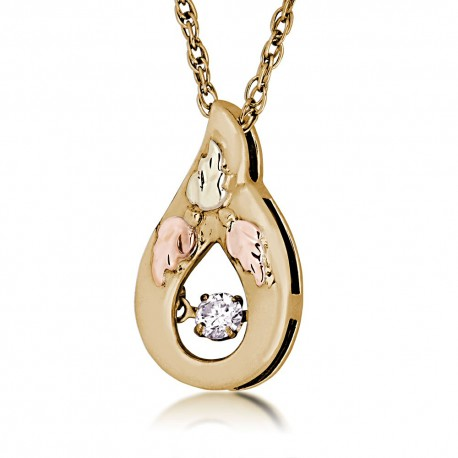 Landstrom's 10K Black Hills Gold Pendant with Diamond