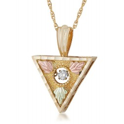 Landstrom's 10K Black Hills Gold Triangular Pendant with Diamond