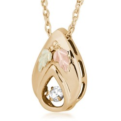 10K Black Hills Gold Glimmer Diamond Pendant By Landstrom's