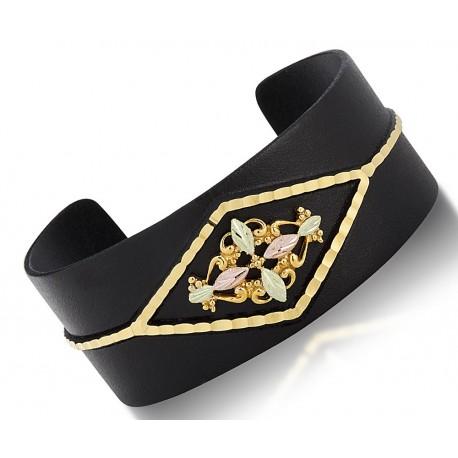 Landstrom's Black Hills Gold Black Powder Coated Cuff Bracelet
