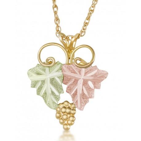 Landstrom's® Black Hills Gold Grape and Leaves Pendant