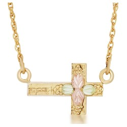 Landstrom's® 10K Black Hills Gold Cross Necklace