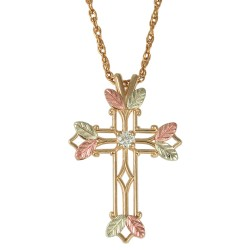 Choose up to 7 Family Birthstones - 10K Black Hills Gold Cross Pendant