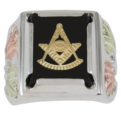 Black Hills Sterling Silver Masonic Past Master Ring