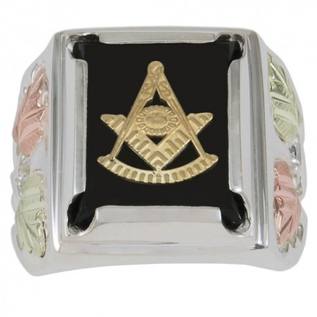 Black Hills Sterling Silver Masonic Past Grand Master Ring