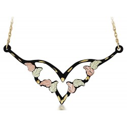 Landstrom's® Black Hills Gold Black Powder Coated Necklace