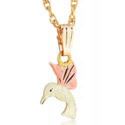 Landstrom's® Small 10K Black Hills Gold Hummingbird Pendant