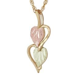 Landstrom's®10K Black Hills Gold Hearts Pendant