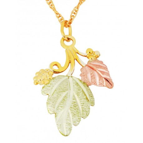Landstrom's®10K Black Hills Gold Grape Leaf Pendant