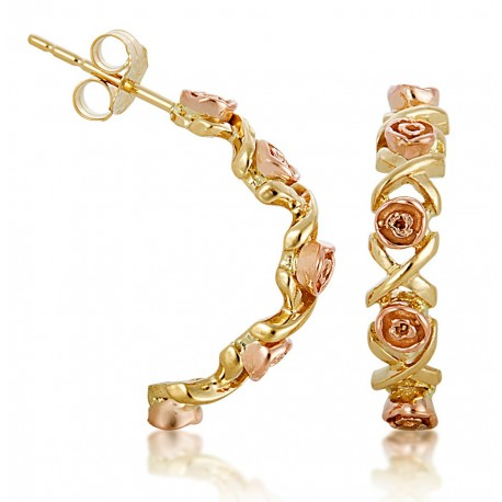 Black Hills Gold Rose Earring