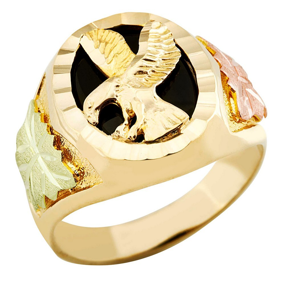 overstock double ring free today shipping black heart rings product and jewelry hills gold watches yellow