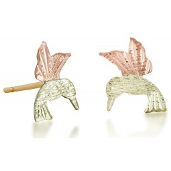 Landstrom's® Small 10K Black Hills Gold Hummingbird Stud Earrings