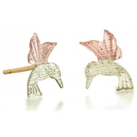 Landstrom's® 10K Black Hills Gold Hummingbird Stud Earring