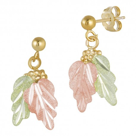 Landstrom's® 10K Black Hills Gold Grape and Leaves Post Earring