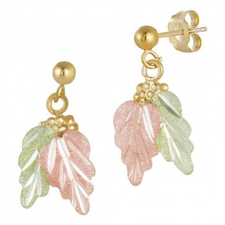 Landstrom's® 10K Black Hills Gold Grape and Leaves Post Earring