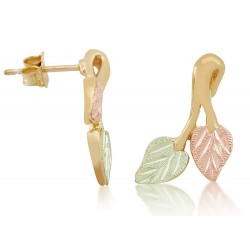 Landstrom's® 10K Black Hills Gold Leaves Post Earring
