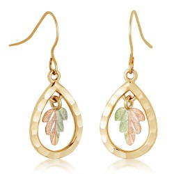 Landstrom's® 10K Black Hills Gold Teardrop Earrings