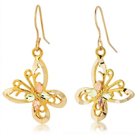 Landstrom's® 10K Black Hills Gold Butterfly Earrings