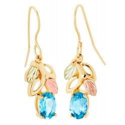 Landstrom's® 10K Black Hills Gold Earrings with Blue Topaz