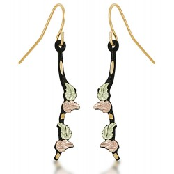 Landstrom's® Black Hills Gold on Black Powder Coated Base Metal Shepherd Hook Earrings