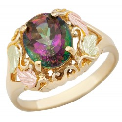 Landstrom's(®) Tri-color  Black Hills Gold Mystic Fire Topaz Ring
