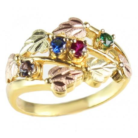 Landstrom's® Black Hills Gold Family Birthstone Ring 2-6 Stones